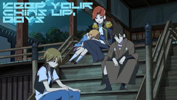 "Yasaburou, Yashirou, Mother (""Prince""), and Yachirou"